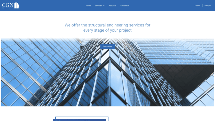 CGN Engineering - Site Web et logo